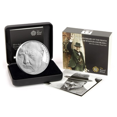 2015 Silver Proof £5 Coin - Winston Churchill